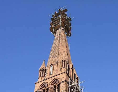 Image of a tall steeple