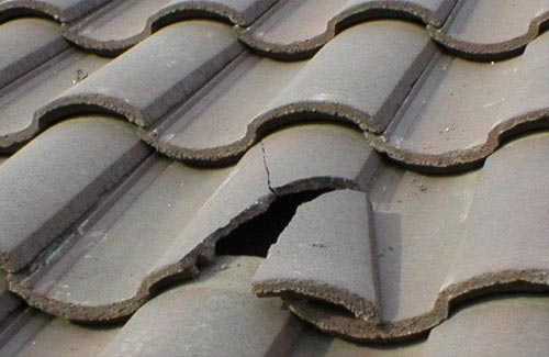 Broken Tile Roof Repair