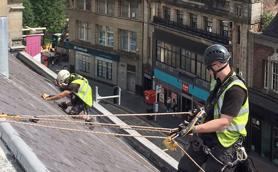 roof repairs with rope access