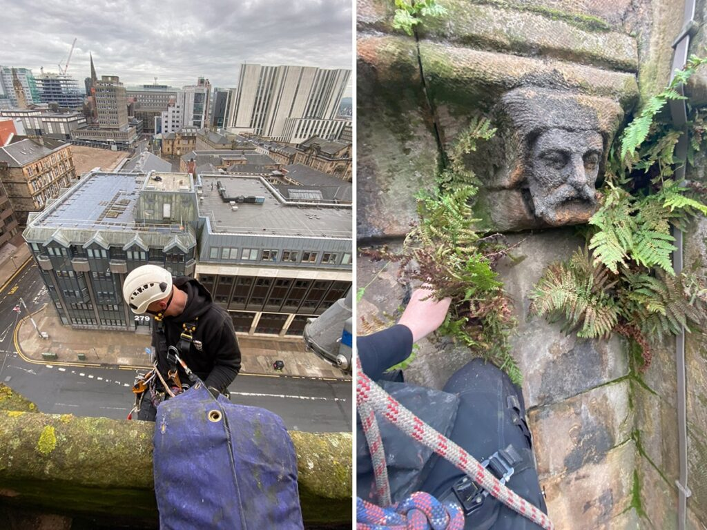 rope access stonework cleaning