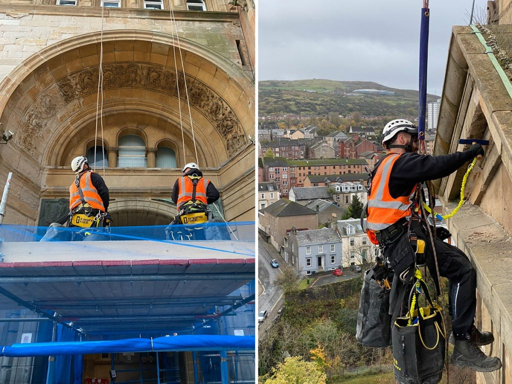 historic building restoration using rope access